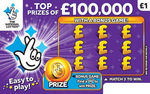 £100,000 Purple Scratchcard