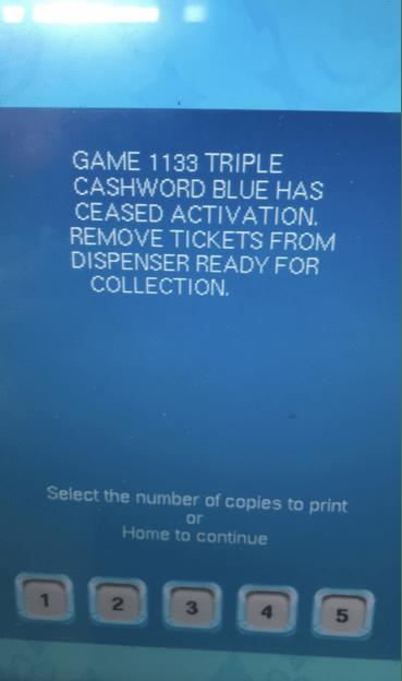 game 1133 triple cashword blue screenshot