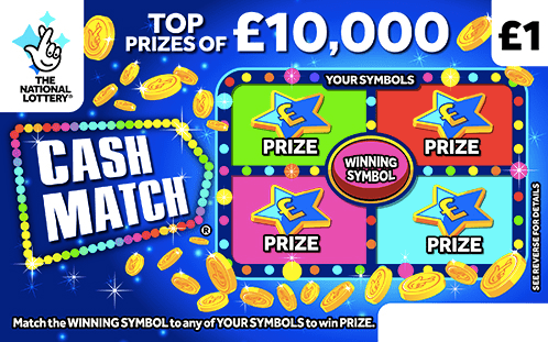 Cash Match National Lottery Scratchcard March 2020