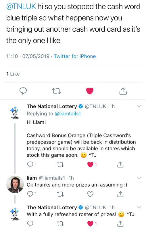 national lottery twitter screenshot